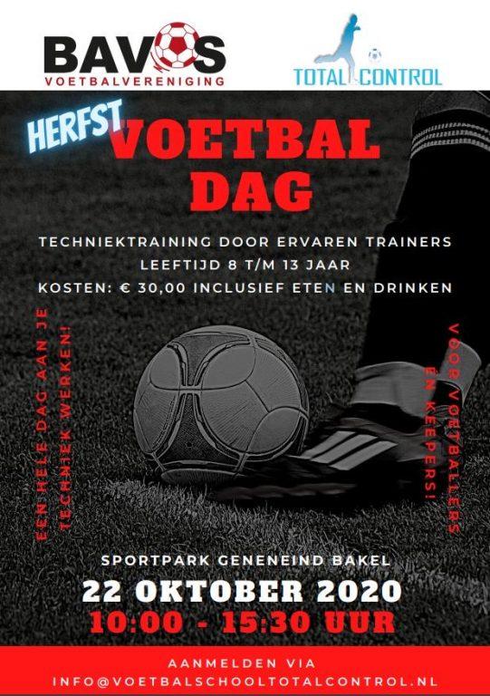 22 oktober Voetbalschool Totalcontrol on tour bij Bavos